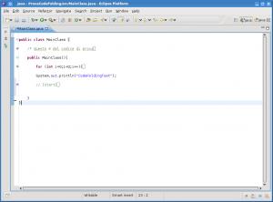 esempio del nuovo code-folding - prima